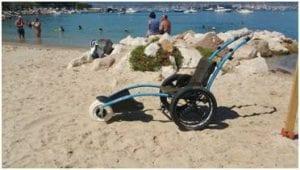 Fauteuil destiné aux personnes à mobilité réduite