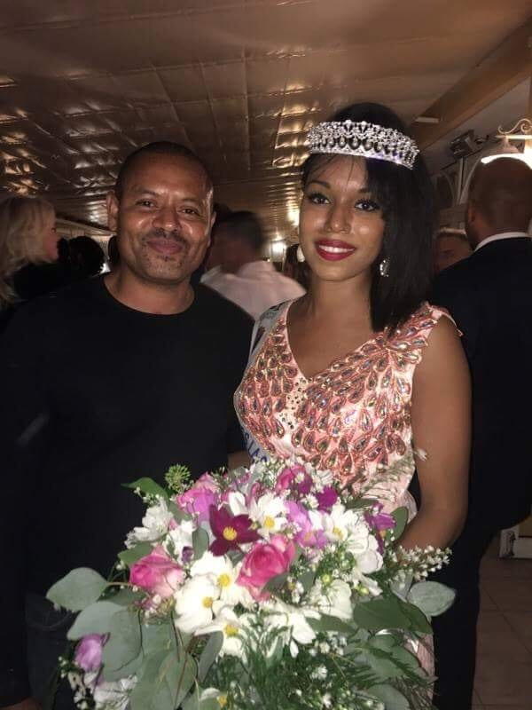 Alicia ALEXIS, Miss La Seyne / Saint Mandrier et son papa